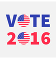 Vote 2016 red blue text Badge button icon with vector image