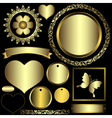 Set metal gradient frames and banners vector image