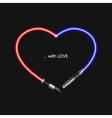 modern concept heart and lightsaber for vector image