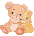 Hugging bears vector image vector image