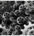 Steampunk gears background vector image vector image