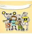 Sport playing carton kids vector image