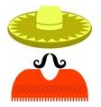 Hat Mustache vector image