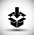 Gift box conceptual simple single color new idea vector image