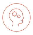 Human head with gear line icon vector image