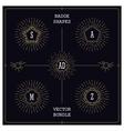mono line style badges vector image