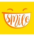Yellow smile poster vector image