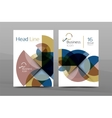 Clean geometric design annual report cover vector image