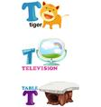 alphabet letter - T vector image