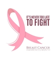 Breast cancer background with pink ribbon vector image