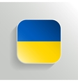 Button - Ukraine Flag Icon vector image