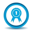 First place icon blue 3D vector image