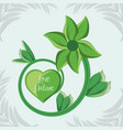 natural plant with breanch and flower with petals vector image