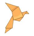 origami bird icon cartoon style vector image