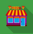 pizzeria icon in flat style isolated on white vector image