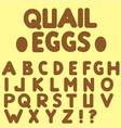 quail eggs letters vector image
