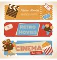 Retro movie banners vector image