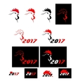 set of cock 2017 vector image