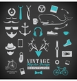 Set of hipster vintage retro chalk label and icon vector image