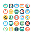 Market and Economics Colored Icons 1 vector image