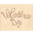 Vintage Valentintines day lettering vector image vector image