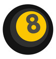black snooker eight pool icon isolated vector image