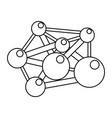 molecule component chemistry vector image