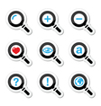 Magnyfying glass search icons set vector image