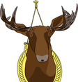 moose head vector image