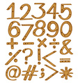 Numerical figures and symbols vector image