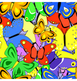 butterfly tile vector image