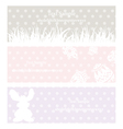 rabbit grass vintage eps10 vector image vector image