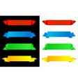 horizontal banners vector image