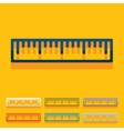 Flat design ruler vector image