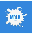 Bottle Replacing Letter Milk Product Logo vector image