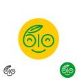 BIO letters symbol Fun smiley happy face logo vector image