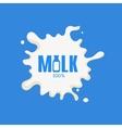 Bottle Replacing Letter Milk Product Logo vector image