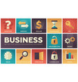 business - set of flat design infographics vector image