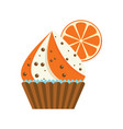 cake grapefruit chocolate vector image