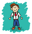 Cute cartoon little boy vector image