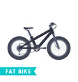 fat bike in flat style isolated on white vector image