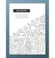 Real Estate - line design brochure poster template vector image