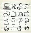 sketchy icon set vector image