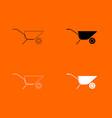 wheelbarrow cart icon vector image