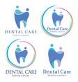 family dental logos vector image