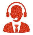 call center grunge icon vector image