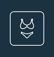 bikini outline symbol premium quality isolated vector image