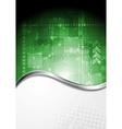 Bright abstract hi-tech backdrop vector image vector image