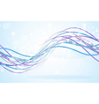 Abstract blue waves - data stream concept vector image