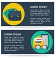 Flat infographic business background vector image vector image